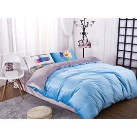 Sky Blue Reactive Dyeing 4-Piece Duvet Cover Sets