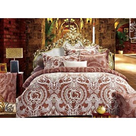 Luxury Style Paisley Printed 4-Piece Polyester Bedding Sets/Duvet Cover