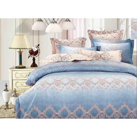 Luxury Blue Lake Pattern 4-Piece Bedding Sets/Duvet Cover