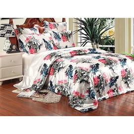 Noble Traditional Chinese Painting 4-Piece Duvet Cover Sets