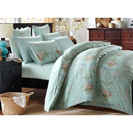 Elegant Jacquard European Style Blue 4-Piece Duvet Cover Sets