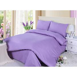 Noble Romantic Pure Purple 4-Piece Cotton Duvet Cover Sets