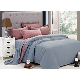 Color Joint Full Cotton 4-Piece Duvet Cover Sets