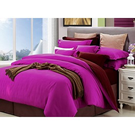 Chic Reversible Pure Cotton 4-Piece Duvet Cover Sets