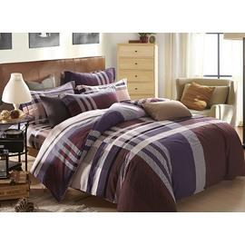 Faddish Classical Stripe Design 4-Piece Duvet Cover Sets