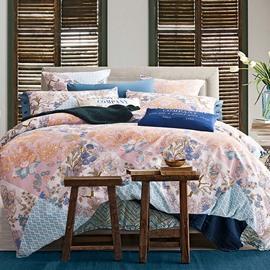 European Style Gorgeous Flowers Print 4-Piece Duvet Cover Sets