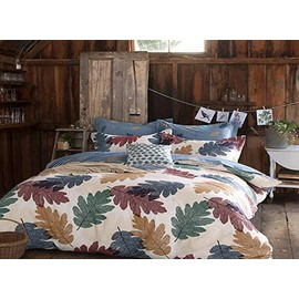 High Class Creative Leaves Pattern 100% Cotton 4-piece Duvet Cover Sets