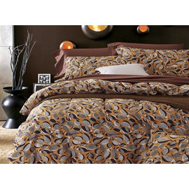 Dazzling Cartoon Birds Design Cotton 4-Piece Duvet Cover Sets