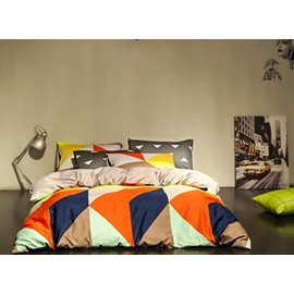 Simple Modern Geometric 4 Pieces Bedding Sets