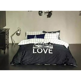 Classical Love Printing 4-Piece Duvet Cover Sets