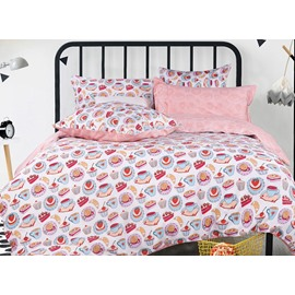 Cute Cakes Printing 4-Piece Duvet Cover Sets