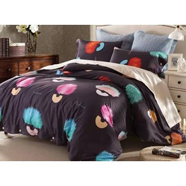 Colorful Fluffy Ball Pattern Modern Style Cotton 4-Piece Bedding Sets/Duvet Cover