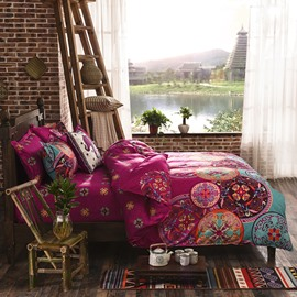 Fancy Bohemian Style Polyester 4-Piece Bedding Sets/Duvet Cover