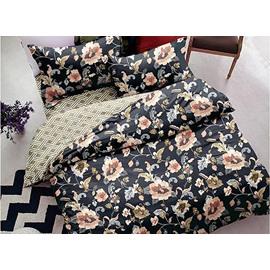 Elegant Floret 4-Piece Polyester Duvet Cover Sets