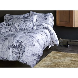 Noble Jacobean Pattern Reactive Printing 4-Piece Cotton Duvet Cover Sets