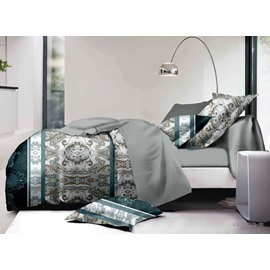 Retro Style Luxurious 4-Piece Polyester Duvet Cover Sets