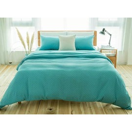 Fresh Turquoise 4-Piece Cotton Duvet Cover Sets