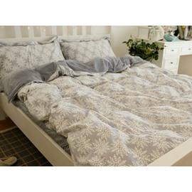 Gorgeous Christmas Snowflake Print 4-Piece Flannel Duvet Cover Sets