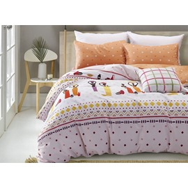 Gorgeous Egyptian Women Print 4-Piece Cotton Duvet Cover Sets