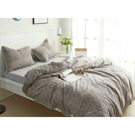 100% Cotton Solid Color 4-Piece Duvet Cover Sets