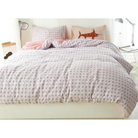 Minimal Style Pure Cotton 4-Piece Duvet Cover Sets