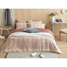 Popular Plaid Design Cotton 4-Piece Duvet Cover Sets