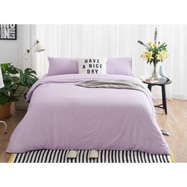 Luxury Purple Soft Brushed Cotton 4-Piece Duvet Cover Sets