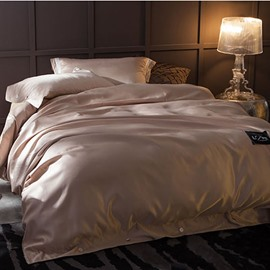 Solid Soft Smooth Durable Hypoallergenic Washable Silk-like 4-Piece Bedding Sets/Duvet Cover