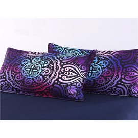 Paisley Bohemian Style Pattern 4-Piece Purple Bedding Sets/Duvet Cover