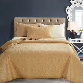 Polyester Material Three-Piece Set Geometric Pattern Bedding Sets