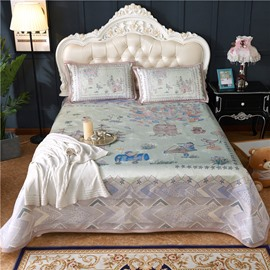 Fairy Tale World Polyester Purple Polyester Digital Printing 3-Piece Summer Sleeping Mat Sets