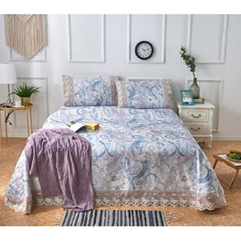 Flower-filled Printing Lace 3-Piece Summer Sleeping Mat Sets