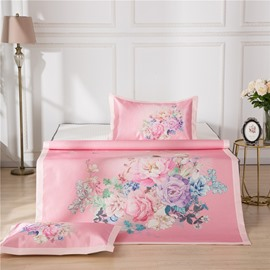 Flower Blooming Polyester Digital Printing 3-Piece Summer Sleeping Mat Sets