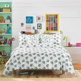 Avocado Hand-painted Printing Simple 4-Piece Polyester Bedding Sets/Duvet Cover