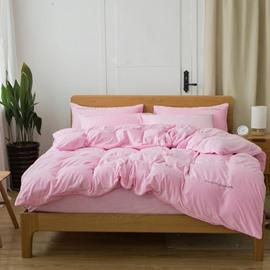 Solid Color Soft Crystal Velvet 4-Piece Bedding Sets/Duvet Cover