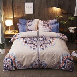 Symmetric Figure Pattern Polyester 4-Piece Bedding Sets/Duvet Cover