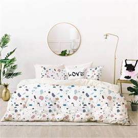 Naturally Soft and Comfortable Modern Style 4-Piece Polyester Bedding Sets