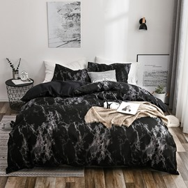 Black Marble Dry Cleaning Three-Piece Set Stitching Duvet Cover Set Polyester Bedding Sets Polyester Bedding Sets