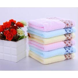 Soft Cotton Leopard Jacquard Face & Hand Towel