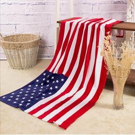 Novel Fashion American Flag Pattern Bath Towel