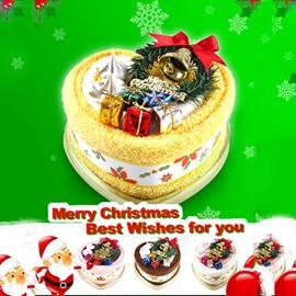 Cheery Cake Fold Christmas Atmosphere Design Towel