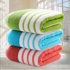 Super Soft Chic Stripe Thick Cotton Bath Towel
