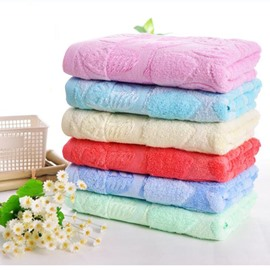 Thick Super Cozy Leaves Cotton Bath Towel