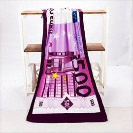 Novel Fashion Best 500 Euro Pattern Bath Towels