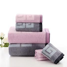 Unique Classic Style Bath and Face Towel Set