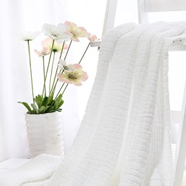 Fashion Pure White Super Soft Kids Cotton Towel