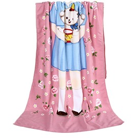 New Style Lovely Little Girl Bath Towel