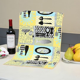 Fashion Unique Tableware Pattern Yellow Ultrafine Fiber Tower