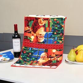 Cosy Warm Santa in House Christmas Theme Face & Hand Towel
