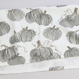 Black and White Ink Pumpkin Printing Face & Hand Towel
